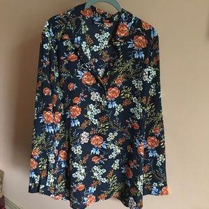 Simply Emma plus sized floral blouse